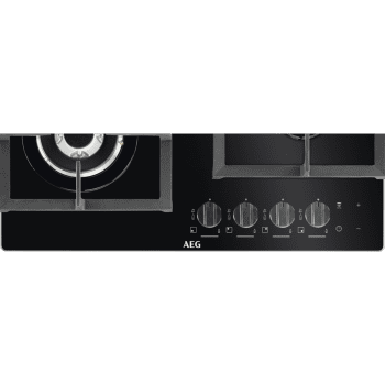 Placa de gas AEG HKB64540NB en Cristal Negro, de 60 cm con 4 Quemadores SpeedBurner, 1 Quemador Wok | Conexión Placa-Campana Hob2Hood - 3