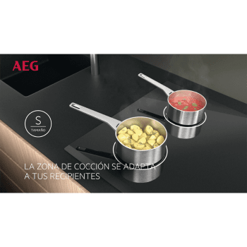 Placa de Inducción AEG IKE63441FB - 3 ZONAS MAXISENSE - █ 60cm ◉28cm - 6