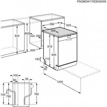 Lavavajillas AEG FFB52601ZM de 60cm con tecnología AirDry | INOX 13 Servicios | Silencioso 47dB con gran ahorro energético A++ - 5