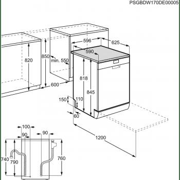 Lavavajillas AEG FFB52601ZM Blanco, de 60cm para 13 servicios, secado AirDry, ajuste automático consumo de agua y energía | Clase E - 4