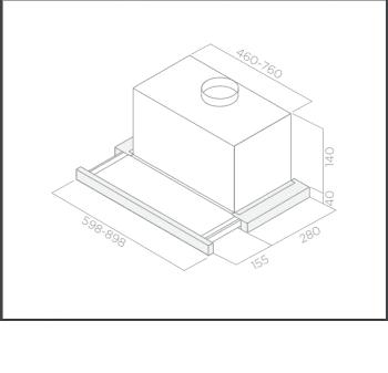 Campana Telescópica Extraíble ELICA ELITE14 LUX WH/A/60 C Blanca, de 60 cm a 336 m³/h   Clase D - 2