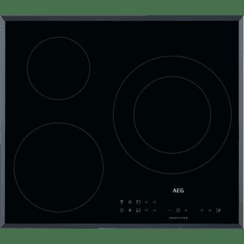 Placa de Inducción AEG IKB63302FB de 60 cm con 3 zonas Max 28 cm y 5.2 kW PowerBoost y Hob2Hood - 1