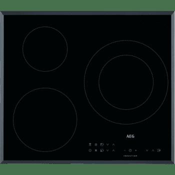 Placa de Inducción AEG IKB63301FB con 3 Zonas de Cocción ◉28cm