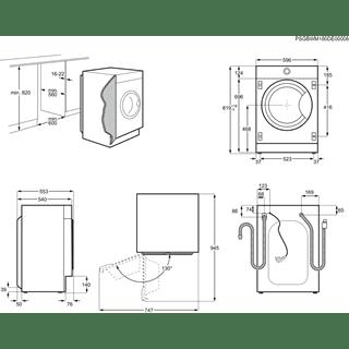 LavaSecadora Electrolux EW7W3866OF Integrable de 8kg Lavado, 4Kg Secado, Motor Inverter a 1600rpm DualCare función Vapor Clase A - 9