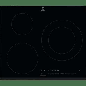 Placa de Inducción Electrolux LIT60342 de 60 cm con 3 Zonas Max 28 cm Función Pausa, Placa-Campana Hob2Hood