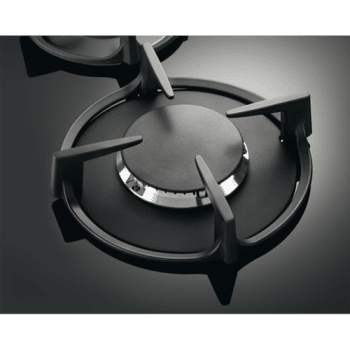Electrolux KGG6407K Placa de Gas Cristal Negro | 4 Zonas  | 1 Quemador Wok | Encendido Automático - 3