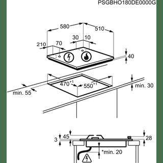 Electrolux KGG6407K Placa de Gas Cristal Negro | 4 Zonas  | 1 Quemador Wok | Encendido Automático - 5