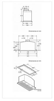 Grupo Filtrante BALAY 3BF267EX Inoxidable, de 52 cm a 690 m³/h   Clase C - 2