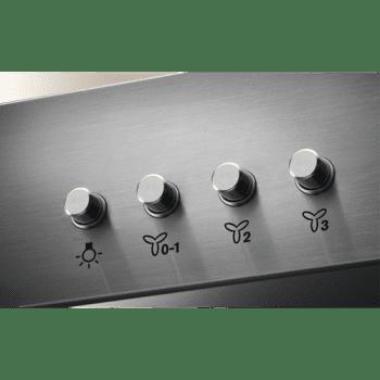 Campana Decorativa 60cm Electrolux LFT416X Inox | 3 Niveles de Potencia | 600m3 | Clase C - 2