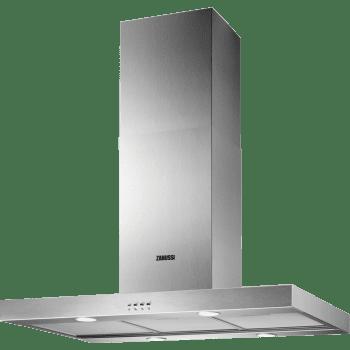 Campana de Techo Zanussi ZHS92450XA Inox tipo Isla de 90 cm a 3 velocidades 400 m³/h Clase D
