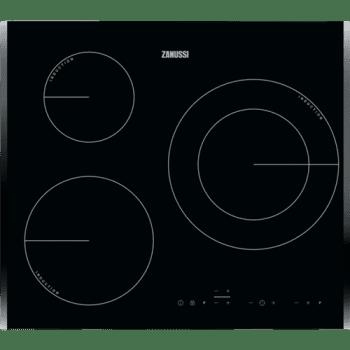 Placa de Inducción Zanussi ZIT6360BB de 60 cm biselada con 3 Zonas Power Max 28 cm Anclaje Easy-fix