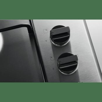 Placa de Gas Zanussi ZGH62424XA Inox de 60 cm con 4 Quemadores (1 Wok) Termopar Parrillas Esmaltadas - 2