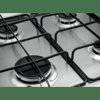 Placa de Gas Zanussi ZGH62424XA Inox de 60 cm con 4 Quemadores (1 Wok) Termopar Parrillas Esmaltadas - 3