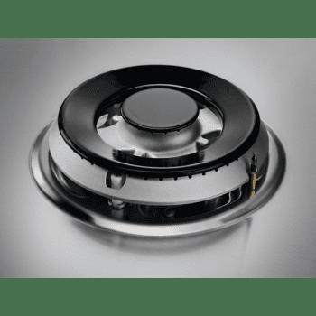 Placa de Gas Zanussi ZGH62424XA Inox de 60 cm con 4 Quemadores (1 Wok) Termopar Parrillas Esmaltadas - 4