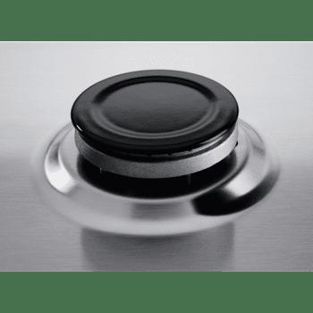 Placa de Gas Zanussi ZGH62424XA Inox de 60 cm con 4 Quemadores (1 Wok) Termopar Parrillas Esmaltadas - 5