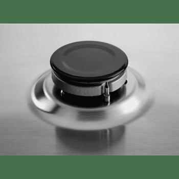 Placa de Gas Zanussi ZGH62424XA Inox de 60 cm con 4 Quemadores (1 Wok) Termopar Parrillas Esmaltadas - 6