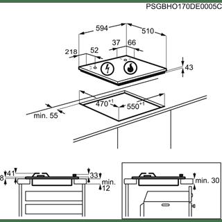 Placa de Gas Zanussi ZGH62417XA Inox de 60 cm con 4 Quemadores Termopar Parrillas Esmaltadas - 7