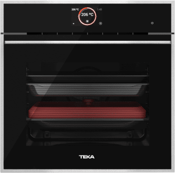 Horno Teka IOVEN P Pirolítico en Cristal Negro Clase A+ |  TFT Asesor Cocción 50 Recetas | Premium