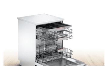 Lavavajillas Bosch SMS46MW19E Blanco de 60 cm con 14 servicios   Motor EcoSilence clase A++   Serie 4 - 4