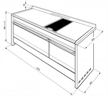 SMEG A5-81 COCINA A GAS ESTÉTICA OPERA 150cm INOX 7 ZONAS COCCIÓN + PLANCHA y DOS HORNO | Envío Gratis - 3