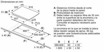 Placa de Inducción Balay 3EB997LU de 90cm con 5 zonas de cocción, Biselada - 7