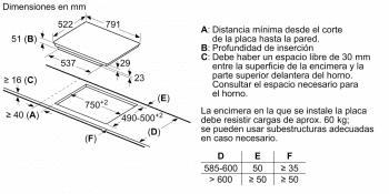 Placa de Inducción Balay 3EB989LU | 80 cm | 3 Zonas - Max. 28 cm | Flex inducción | 17 niveles de cocción | Biselada - 8