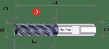Fresa metal duro Z5 · 40° Trocoidal