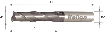 Solid Carbide Square End Mill Z2 Long 35°