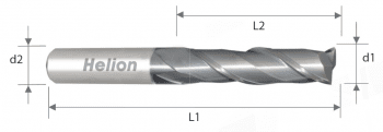 Fresa metal duro plana larga Z2 · 35°