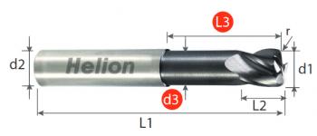 Fresa metal duro tórica Z4 · 30°