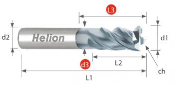 Fresa metal duro Z4 · 35°/38°