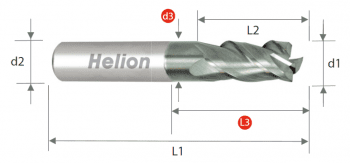Fresa metal duro plana Z3 · 42°