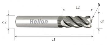 Fresa metal duro para desbaste Z4-5 · 42°