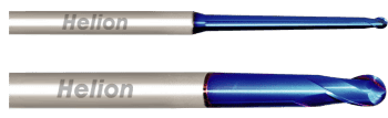 Solid Carbide Ball Nose End Mill Taper Neck Z2 · 30°