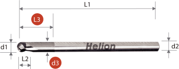 CBN Ball Nose End Mill Z2 · 30°