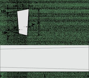 Irregular Trapezoid Tool Bits L-2