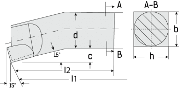 Internal Boring Tool Roughing DIN 4973/ISO 8