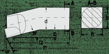 Herramienta tornear interior desbaste DIN 4973/ISO 8