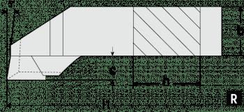 Herramienta para tornear y refrentar 90°  DIN 4980/ISO 6