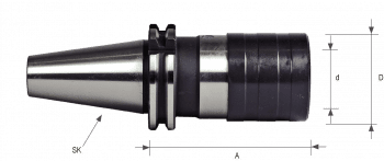 DIN 69871 Roscador SK40 de cambio rápido – doble compensación axial