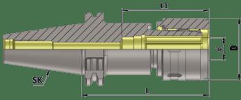 DIN 69871 Power Milling Chuck SK40