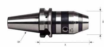 MAS/BT403 NC Drill Chucks BT50 for clockwise and counterclockwise rotation