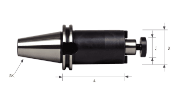 DIN 69871 Shell End Mill Holder SK50 with enlarged contact face and internal coolant DIN 6357