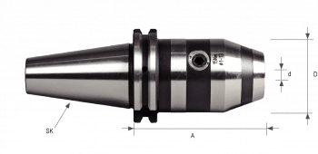 DIN 69871 NC Drill Chucks SK50 for clockwise and counterclockwise rotation