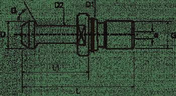 Tirante MAS/BT con agujero pasante y junta tórica