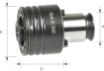 Quick-Change Head with safety clutch size 1 DIN 376