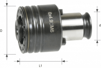 Quick-Change Head with safety clutch size 2 DIN 376