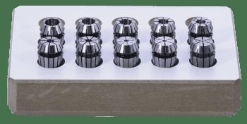 Juego de pinzas ER DIN 6499-B en caja de madera e intervalos de 1mm Ultraprecisión