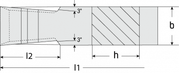 Width grooving tool DIN 4976/ISO 4