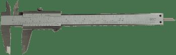 Vernier caliper with set screw